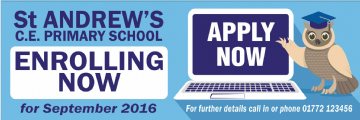 School Admissions banner